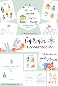 Winter homeschooling printables #homeschool #homeschooling #winterhomeschool #educationalworksheets #educational #winter #hygge #hyggehomeschool #kidsprintables #creativewritingkids